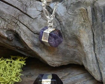Amethyst Gauged Earrings