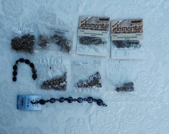DESTASH Beads assorted - Glass - Wood - Ceramic - Shell Beads - Natural Beads - Jewelry Supplies - Craft Supplies Beads