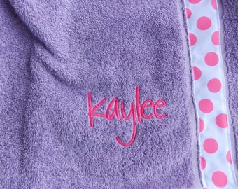 Now with straps  Women's /Kids  personalized spa  towel wrap bath and Beach cover up graduation gifts monogram  towel