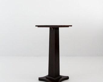 SALE antique wood pedestal table