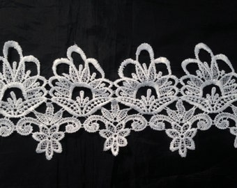 1 Yards Off White Venice Lace Venise Trim 4 1/2 inch Wide SHIPS FROM USA