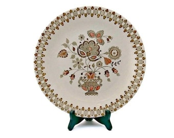 Johnson Brothers Old Granite Dinner Plate - Vintage Jamestown Brown Transferware Staffordshire Stoneware England