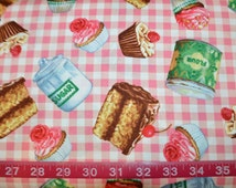 Exclusively Quilters. Just Desserts. Toss Pink Gingham - BTY - Choose your cut of fabric