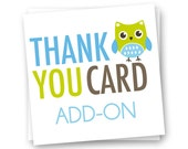 Thank You Card Add On - Made to Match