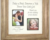 Today A Bride Personalized Wedding Frame Gift for Father of the Bride and Parents of the Bride 16 X 16