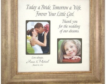 Wedding Gifts For The Bride And Groom Australia : today a bride personalized wedding frame gift for father of the bride ...