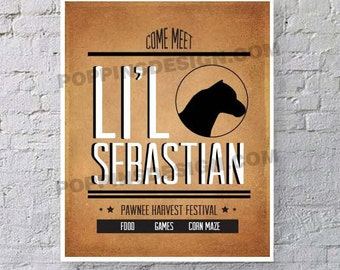 Parks and Recreation LIL SEBASTIAN Digital Download Print