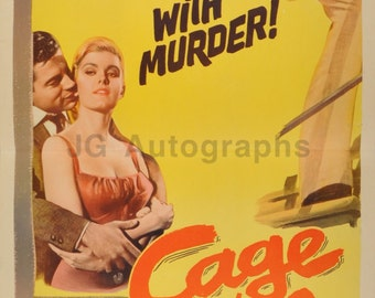 Cage of Evil - Vintage Insert Movie Poster - Ronald Foster, 1960