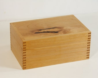 Tea box crafted of alder