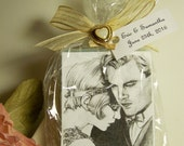 Great Gatsby Favors, Glam favors, Chic favors, organic handmade soaps. wedding favors, shower favors. 30 favors