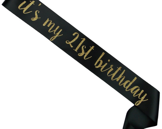 Birthday Sash - 21st Birthday - Any Number - Any - Color - Custom Sash - Personalized Sash - 50th Birthday - Party Accessory - Birthday Gift