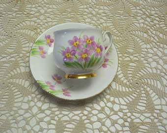 Phoenix Bone China Floral Decor Cup and Saucer