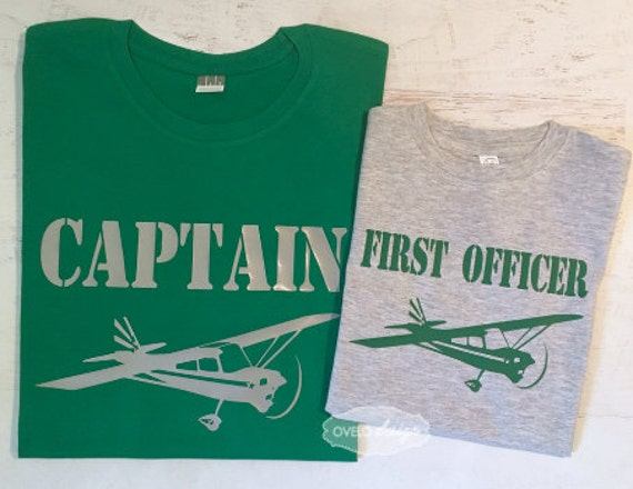 Captain and First Officer Pilot Co-pilot Family Pick your Aviation and color combo Paper Airplane
