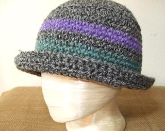 Crochet Cloche with Brim