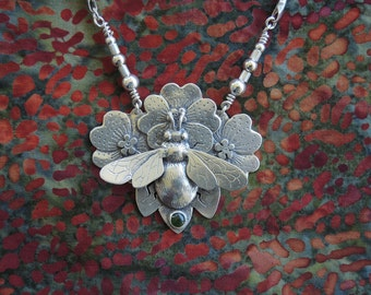 Bumblebee Necklace - sterling silver