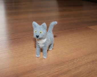 Felted cat, cat miniature, custom felted cat, handmade