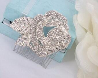 Roselyn-Vintage Style Rhinestone Bridal Comb