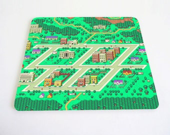 Onett Town Earthbound inspired Mousepad