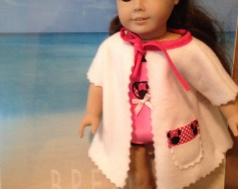 18 inch doll (modeled by American Girl) Minnie swimsuit and swim cover up