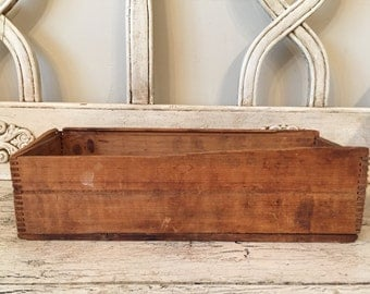 Small Rustic Wood Box  - Perfect for Storage, Decor - Distressed Wooden Box