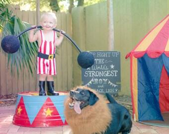Strongman Costume for Little Children with Belt