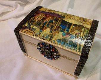Carousel Jewelry Box Trinket Box Keepsake Box