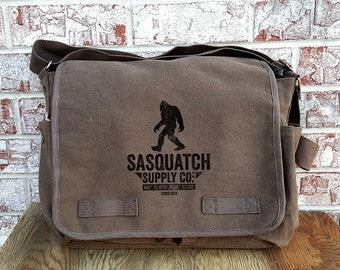 Messenger Bag - Sasquatch Supply CO.™ -  Screen Printed Messenger Bag - Two Colors Available