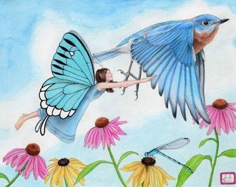 Flying Through the Garden 8X10 print