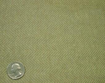 "Vintage Wool Fabric Yardage Herringbone Light Tan 3 Yards 4"" 58"" Wide"