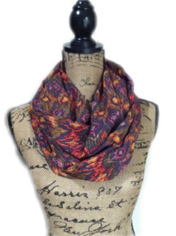 Summer weight travel scarf with one pocket tribal print for Travel scarf
