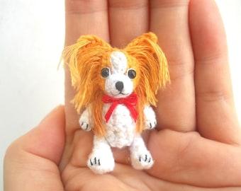 Mini Crochet Papillon - Miniature Dog Stuffed Animals - Made To Order