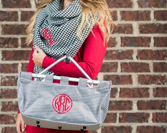 Personalized Large Market Tote, Monogrammed Market Basket, Tail Gate Basket, Tail Gate Tote Basket, Tote basket, Market Basket,