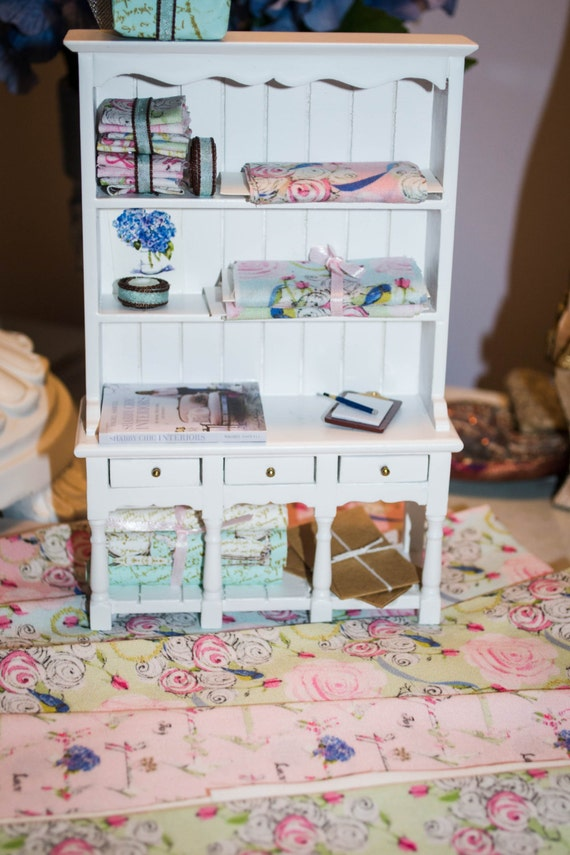 Shabby Chic fabric for dollhouse and miniaturist designers or baby