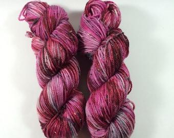 Squishy Tweed, Hand Dyed Yarn, Color, Glam Game, Hand Dyed yarn, tweed, superwash merino, aran weight, multi colored