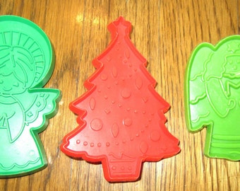 Angels and Christmas Tree Holiday Cookie Cutters Hallmark Cards