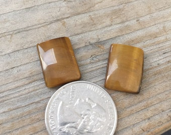 Tiger eye cabs matched pair