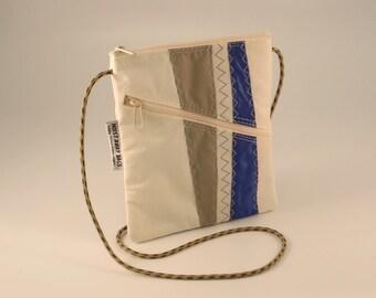 Crossbody Bag, Shoulder Bag, Small Shoulder Bag, Nautical Bag, Bridesmaid Bag, Sail bag, White Bag, Blue Bag, Gray Bag (OTS15)