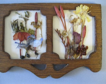 Doll House Miniature Dried Pressed Flower Wall Hanging #28