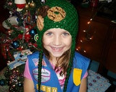 SALE RUSH Girl Scout Cookie hat or head wrap daisy cadet brownie cookies booth