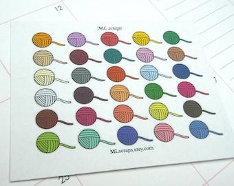 Yarn Planner Stickers-Knitting, Crochet Stickers