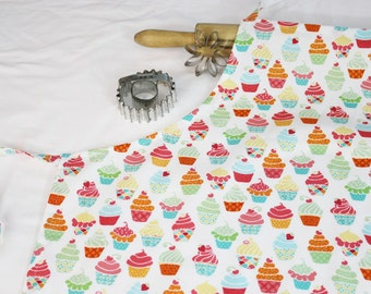 Cupcakes on White Adult Apron