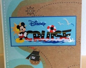 Disney Cruise scrapbook mickey mouse premade pages chipboard board book- 8 x 8 album