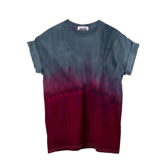 Red Dip Shirt 90s grunge tee Tie Dye t shirt all black