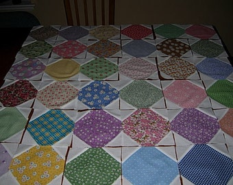 Snowball Quilting Blocks Made With 30's Reproduction Fabrics