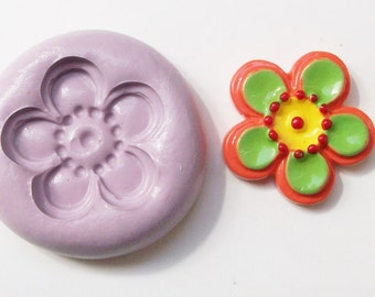 Flower Mold #75 - silicone mold, craft mold, porcelain mold, jewelry mold, baking mold, fondant mold, clays mold, flexible mold