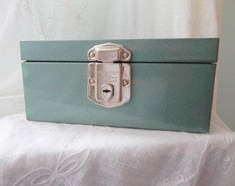 Vintage metal money box