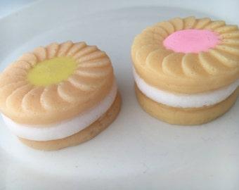 Delicious cream filled bikkie soaps