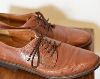 Vintage Men's Salvatore Ferragamo Pebbled Leather Derby shoes
