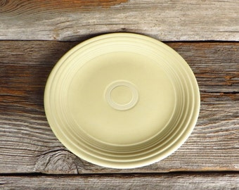"Vintage Fiestaware Ivory 9 1/2"" Plate 1930s 1950s Fiesta Dinner Luncheon Plate Homer Laughlin Pottery Farmhouse Kitchen"