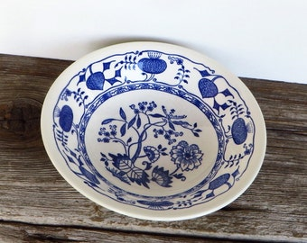 Blue Onion Serving Bowl Blue and White China Blue Danube Vegetable Bowl Farmhouse Kitchen Cottage Chic